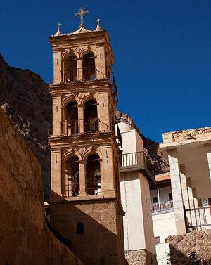 Колокольня монастыря святой Екатерины на Синае