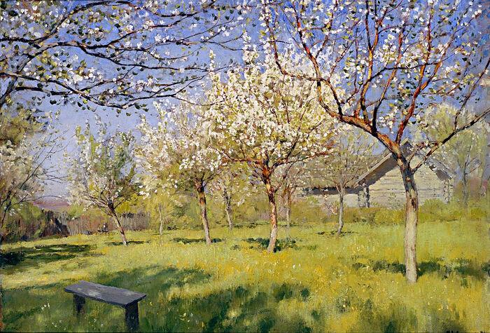 Исаак Левитан. Цветущие яблони. 1896