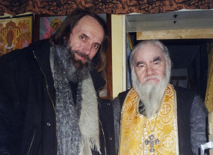 Архимандрит Адриан (Кирсанов) и профессор Алексей Иванович Сидоров