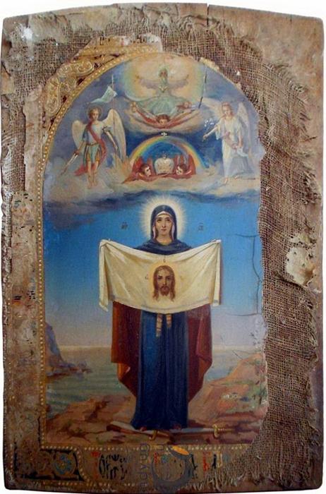 Список Порт-Артурской иконы Божией Матери в курганском храме, 26 июля 2013 г.