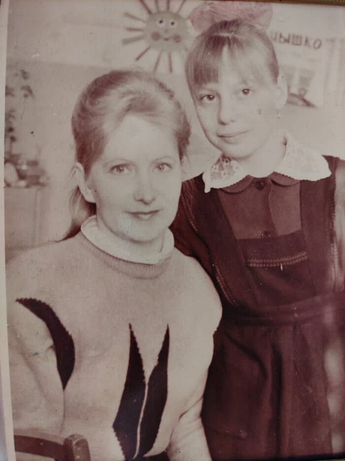 With my mama