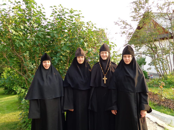 With the abbess and sisters of Kazan-St. Tryphon Hermitage