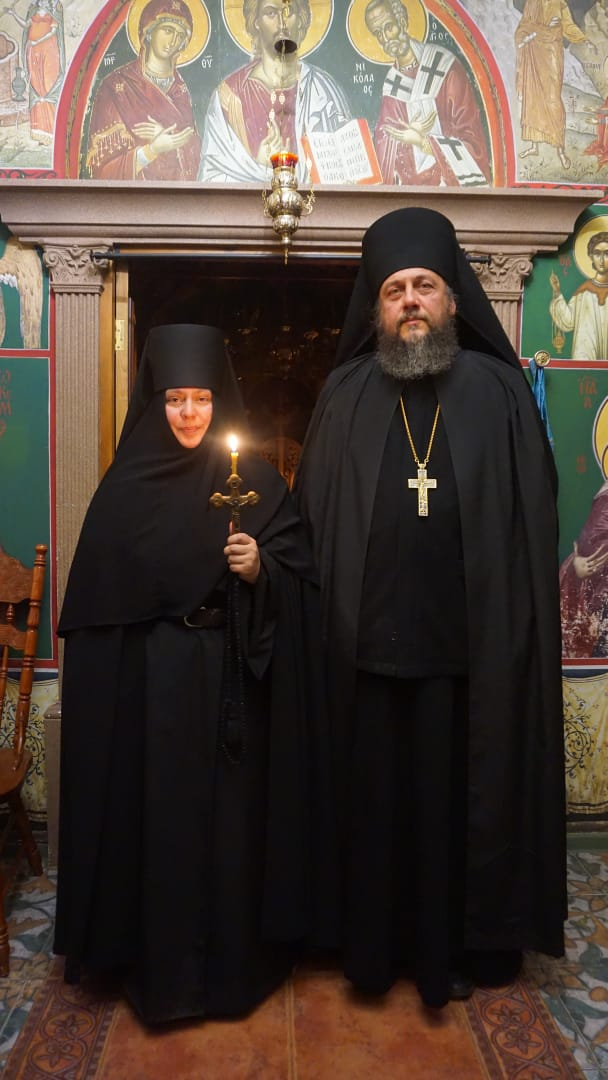 On the day of her tonsure in the skete with the monastery's spiritual father, Igumen Savvaty