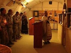 American, Georgian chaplains celebrate Nativity in Afghanistan