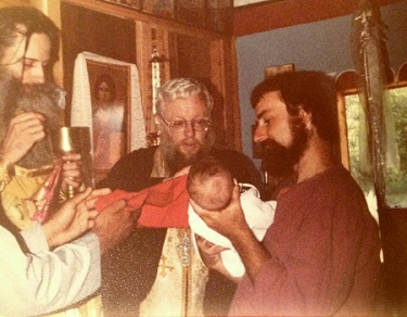 Fr. Seraphim with his spiritual children Fr. Alexey Young and Seraphim Nichols