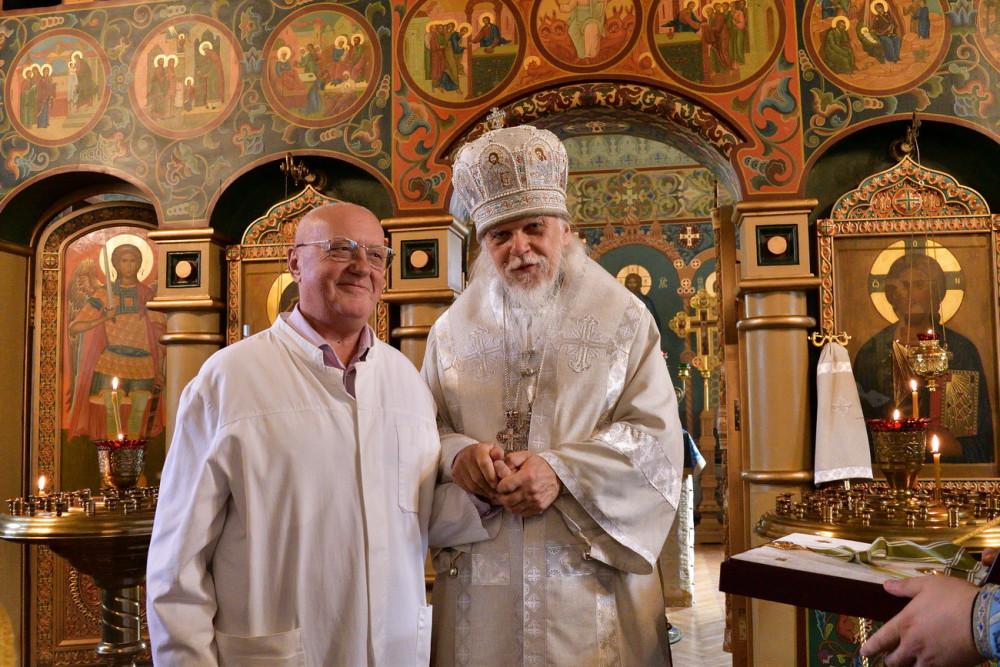 Епископ Пантелеимон и Анатолий Федин, главврач ЦКБ свт. Алексия в 2000–2005 гг.