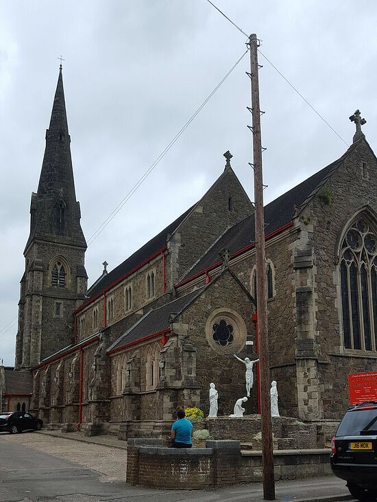 Exterior of St. Osburg's RC Church in Coventry, West Midlands. Photo provided by Fr. Pontius Bandua