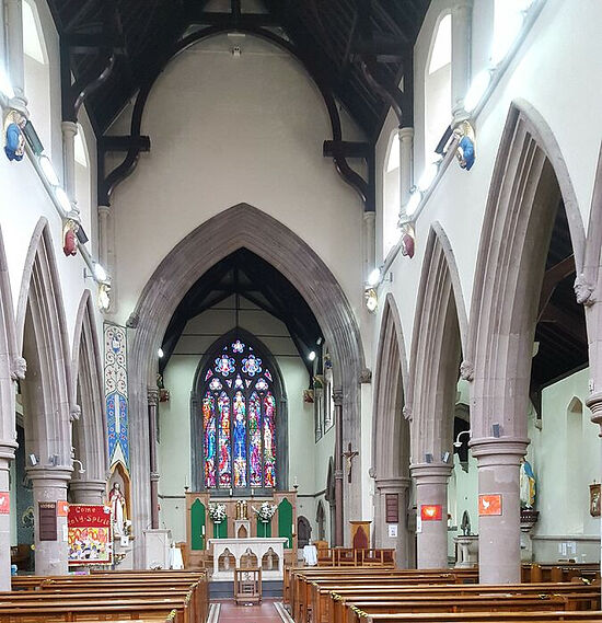 Interior of St. Osburg's RC Church in Coventry. Photo provided by Fr. Pontius Bandua