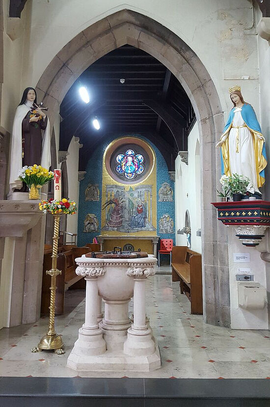 Lady Chapel of St. Osburg's RC Church in Coventry. Photo provided by Fr. Pontius Bandua