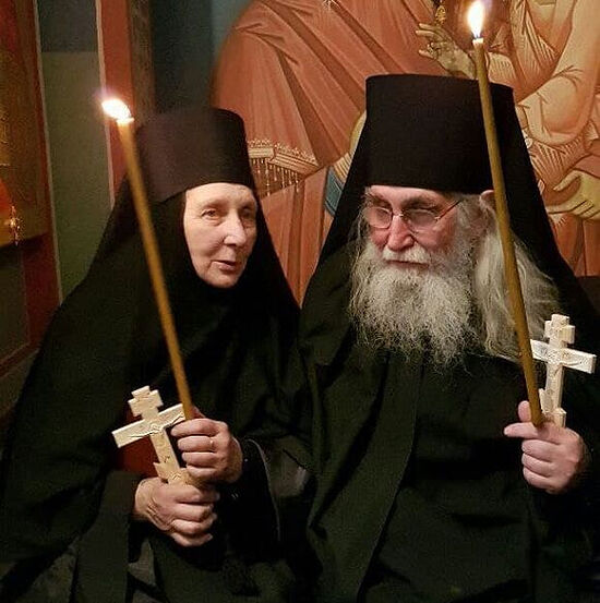 Fr. Joachim and Nun Anna after their tonsure