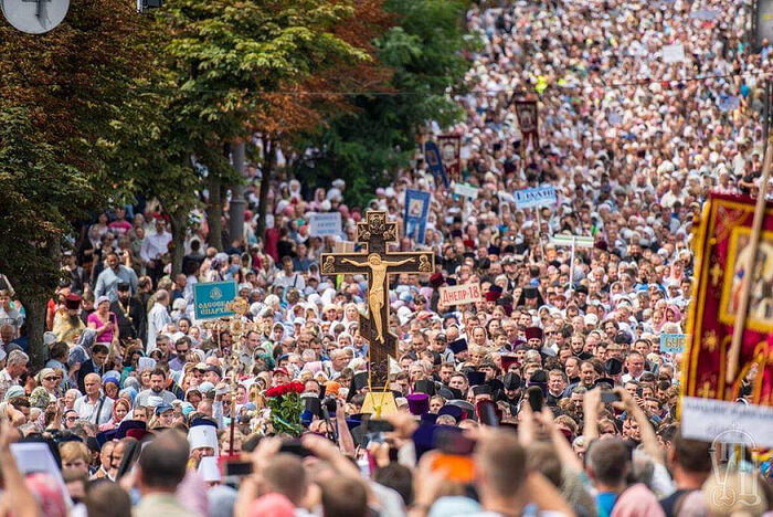 The Great Cross Procession in Kiev on July 27, 2021