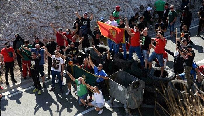 Οι διαδηλώσεις στο Τσέτινιε. Φωτογραφία: unn.com.ua