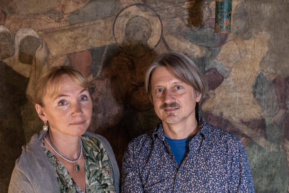 Τοιχογράφοι: Ντάρια Σαμπάλινα και Μιχαήλ Λεόντιεβ