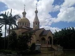 The Church of the Vladimir Icon of the Mother of God in Brisbane suffers damage from the Queensland flood