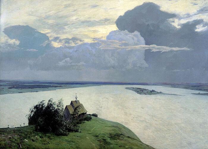 Исаак Ильич Левитан «Над вечным покоем», 1894 год
