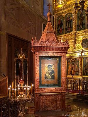 Владимирская икона Божией Матери в храме свят. Николая в Толмачах