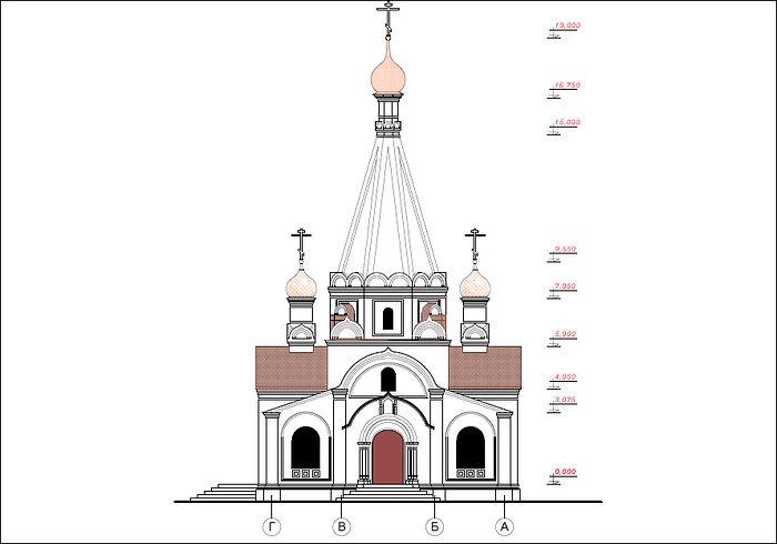 Проект храма Рождества Христова в д.Кучеры