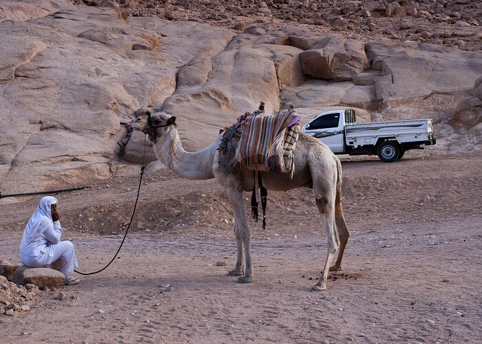 The Bedouin clothing, way of life, and other traditions have not changed for centuries
