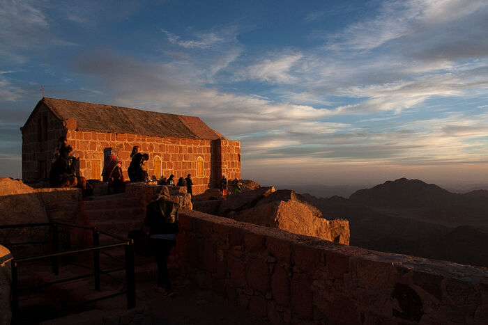 The Church of the Holy Trinity at the top of Mt. Sinai