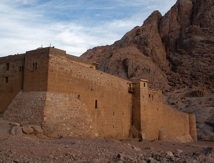 The mighty, impressive walls of St. Catherine's Monastery!