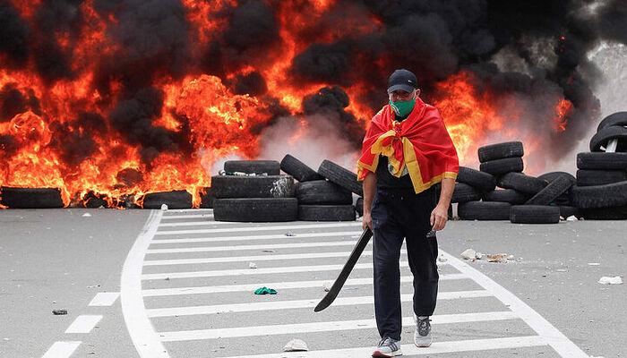 One of the rioters. Photo: iz.ru
