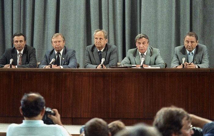 Пресс-конференция ГКЧП в МИД СССР, 19 августа 1991 г.