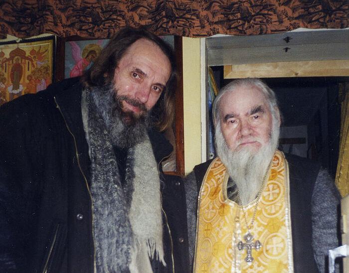 Archimandrite Adrian (Kirsanov) and Professor Alexey Ivanovich Sidorov