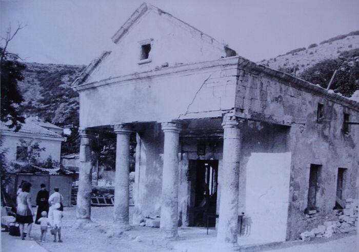 Храм 12 Апостолов в Балаклаве до восстановления