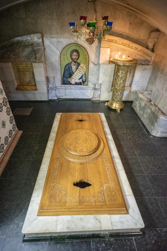 Η κρύπτη στον Ιερό Ναό του Αγίου Δικαίου Συμεών Βερχοτούρσκιϊ