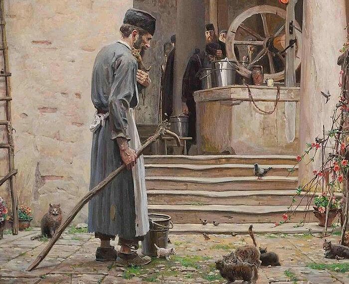 Ο Άγιος Σιλουανός ο Αθωνίτης. Ζωγράφος Π.Β.Ριζένκο