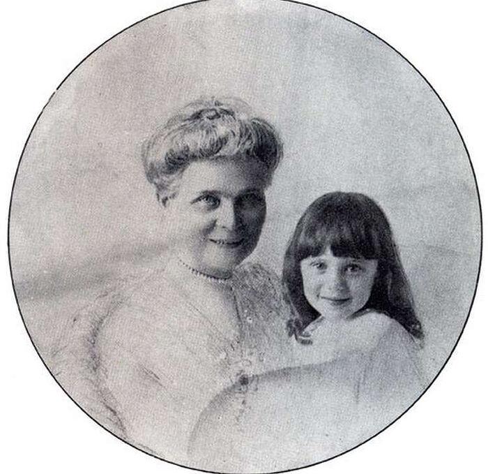 С внучкой Ириной