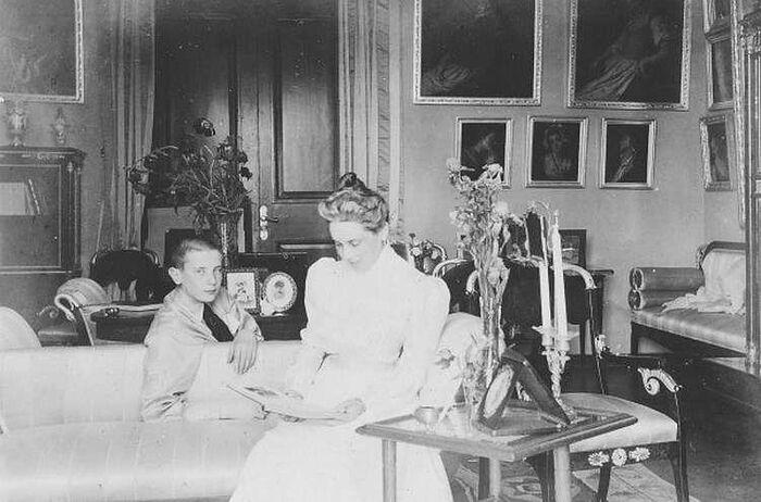 Зинаида Юсупова с сыном Феликсом