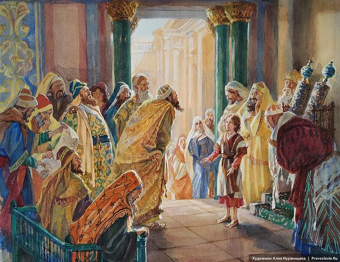 Мальчик Иисус в храме. Художница: Алия Нуракишева / Православие.Ru