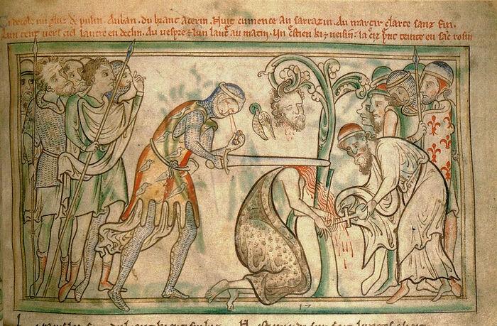 Η θανάτωση του Αγίου Αλμπάν της Βρετανίας (μινιατούρα)