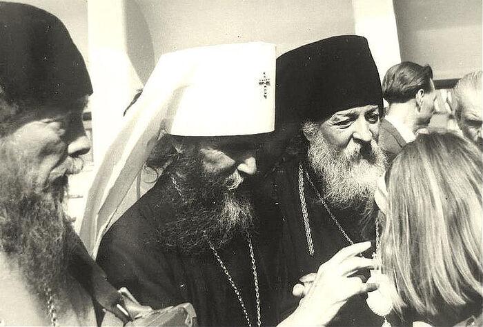 Слева направо: Протоиерей Ростислав Ган, епископ Филарет (Вознесенский), епископ Антоний (Медведев). Сидней, 1964 г.