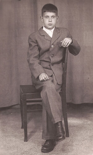 Первый костюм (~1948-1950 гг.)