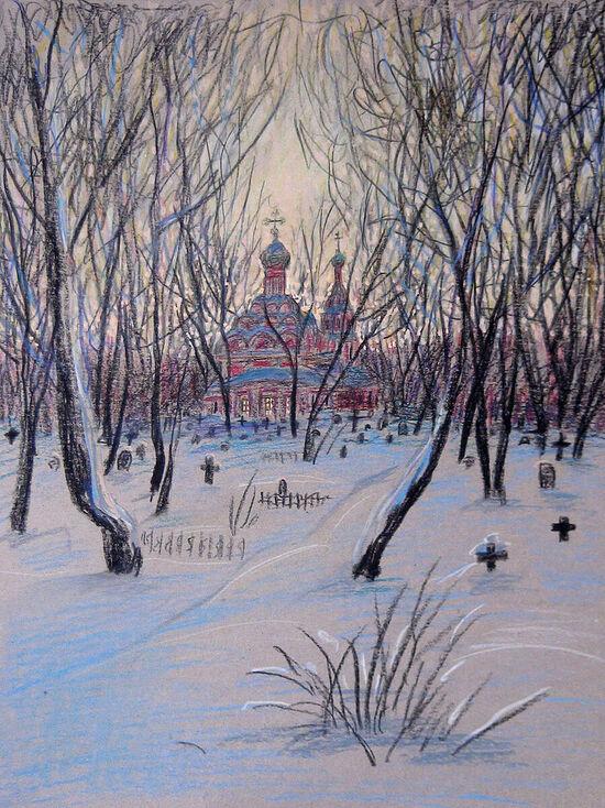 Наталия Петровна Ермакова. Малый собор зимой 1994 г.