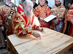 В селе Пески на Волыни освящен новый храм Украинской Православной Церкви, построенный вместо захваченного раскольниками