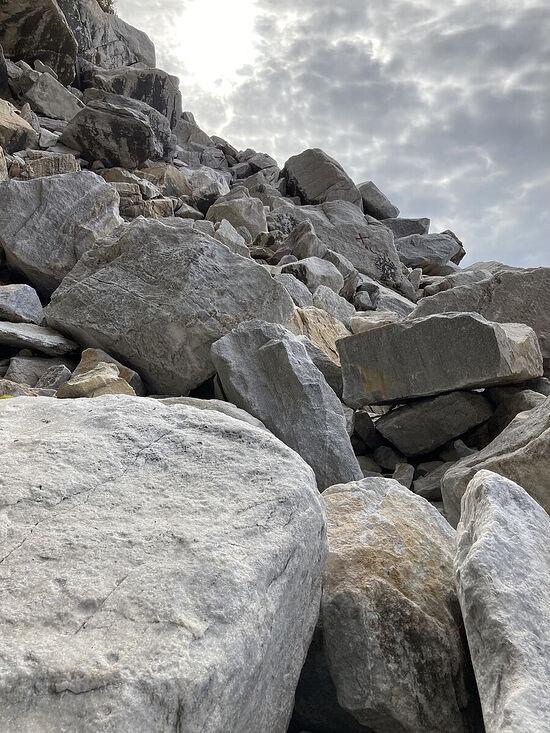 Golgotha, a climb up the rocks