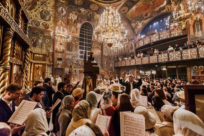 Пасха 2018 года в соборе «Всех скорбящих Радость» в Сан-Франциско