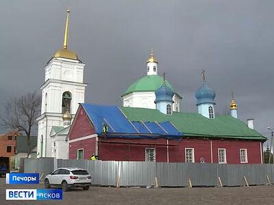 В Печорах началась реставрация храма Святой Великомученицы Варвары