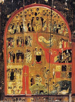 Загрузить увеличенное изображение. 739 x 1000 px. Размер файла 251875 b.  Страшный Суд. Монастырь св.Екатерины на Синае