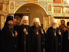 The Primate of the Russian Church Abroad Receives His Beatitude Metropolitan Jonah, Primate of the Orthodox Church in America