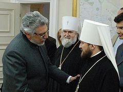 Metropolitan Hilarion (Alfeyev) meets with President of Paraguay