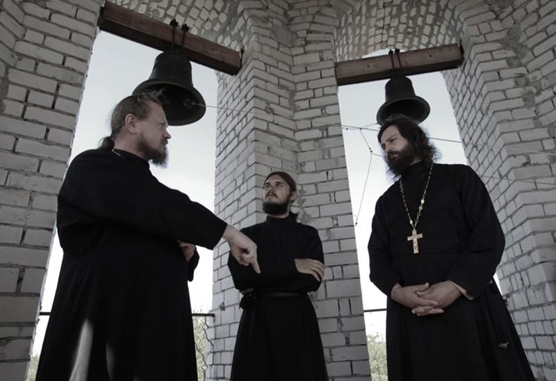 Отец Александр, послушник Ярослав и отец Алексий