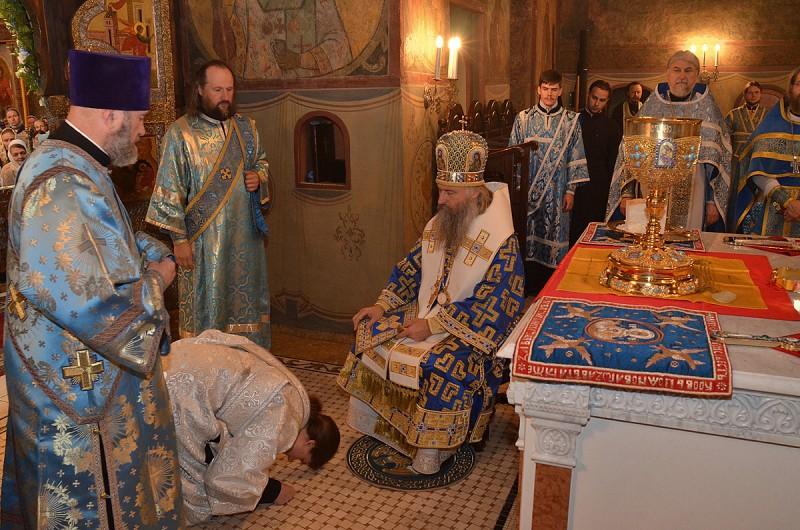 Диаконская хиротония монаха Никиты