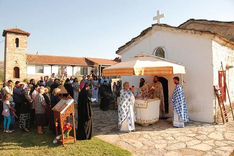Божественная литургия в Великой Хоче
