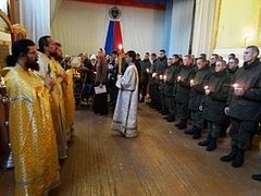 Missionaries performed mass baptism of soldiers at northern cosmodrome