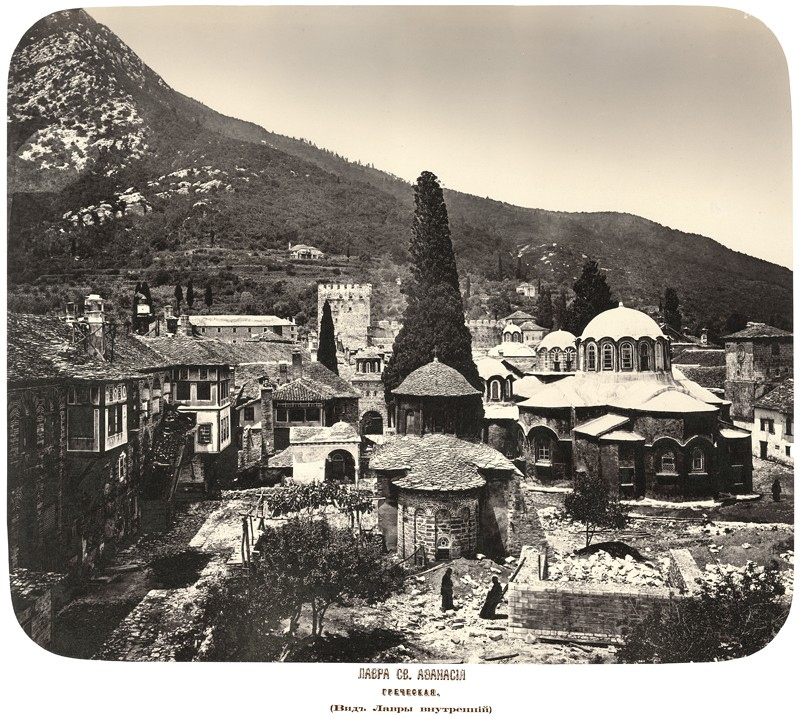Μονή Μεγίστης Λαύρας του Αγίου Αθανασίου. Εσωτερική άποψη