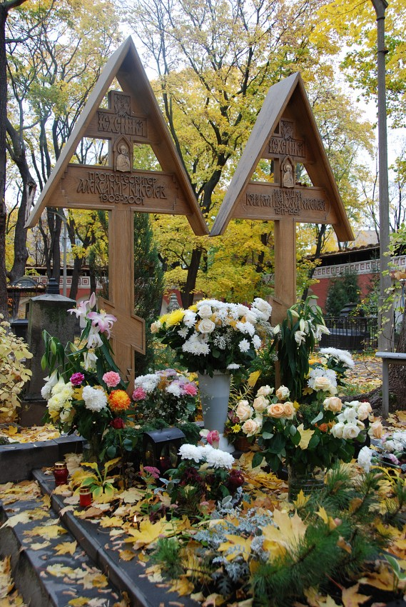 Место упокоения протопресвитера Александра Киселева (1909-2001) и его матушки Каллисты (1911-1997)